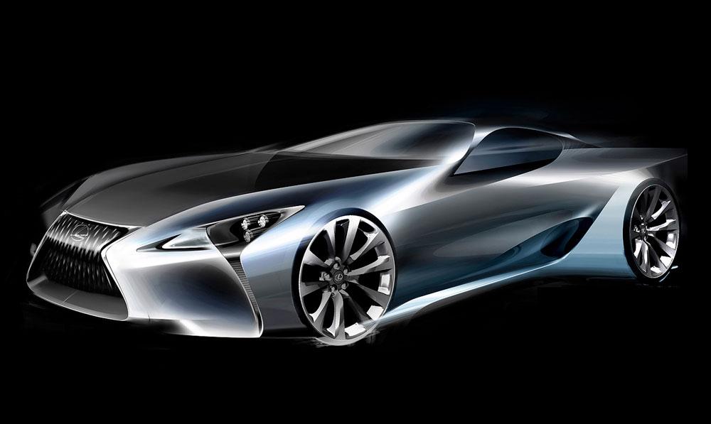Lexus LC Sketch