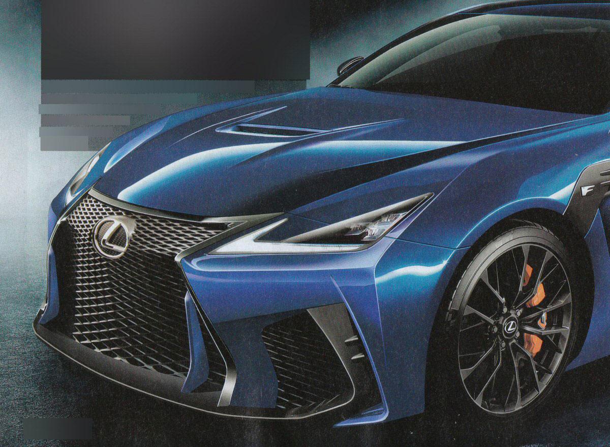 Lexus gs f rendering 2018