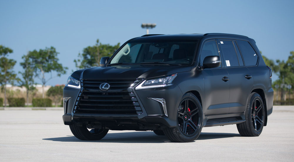 Lexus LX Murdered Out Vossen