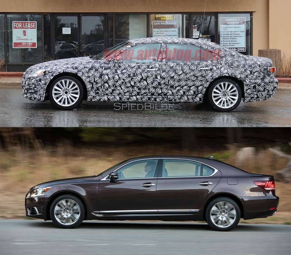 Lexus LS Comparison Side Model