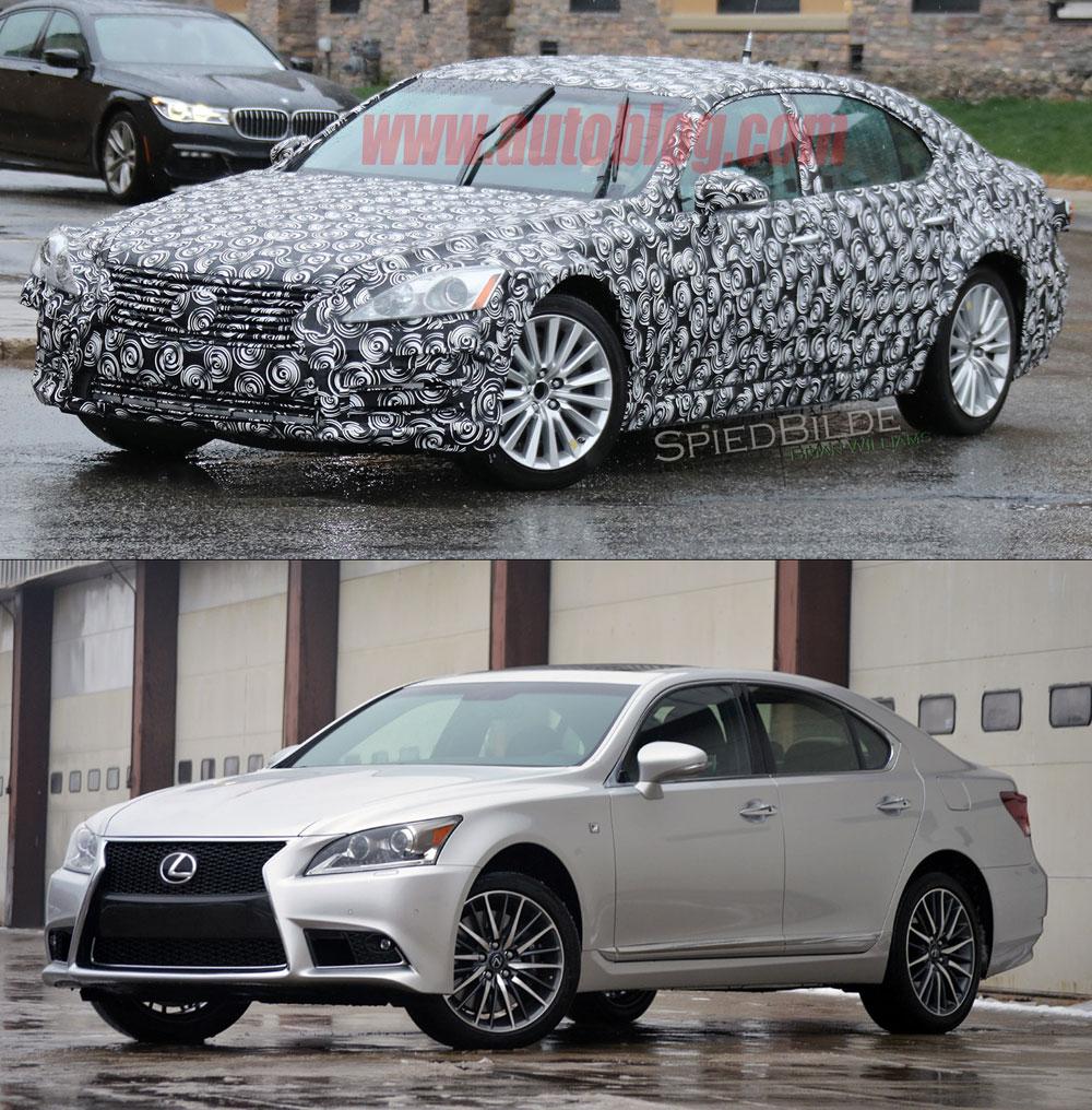 Lexus LS Mule Production Comparison
