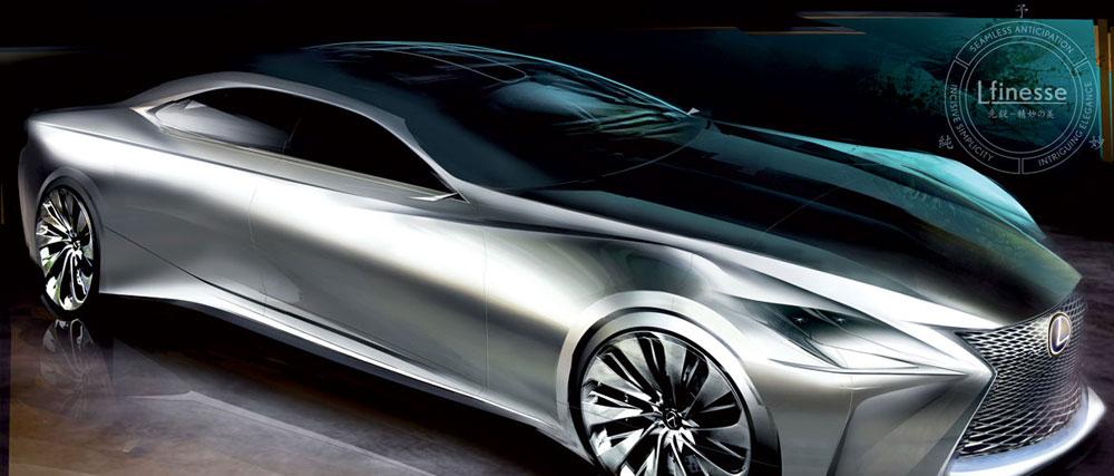 Lexus LF-FC Sketch 2
