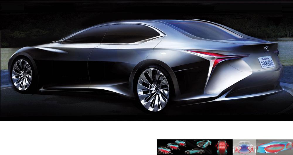 Lexus LF-FC Sketch 3
