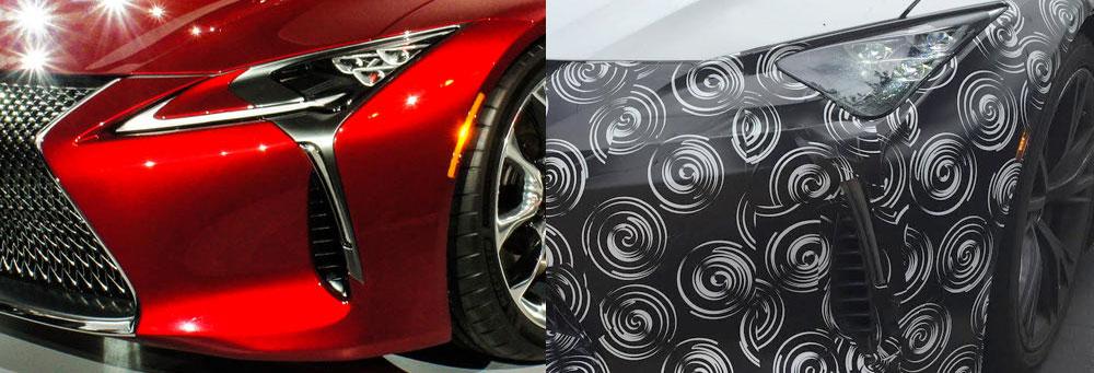 Lexus LC Camouflage Comparison
