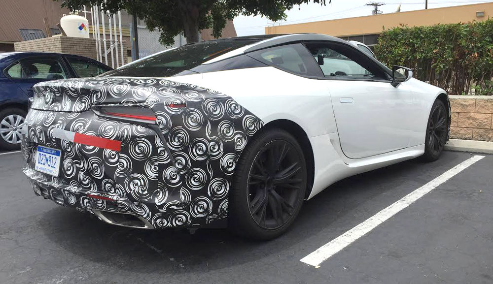 Lexus LC Camouflage Rear