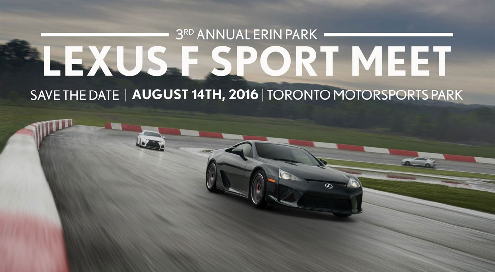 Lexus F SPORT Meet Erin Park