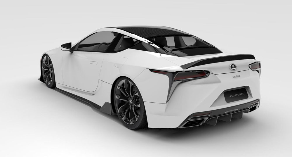 Lexus LC 500 Rendering Jon Sibal Rear