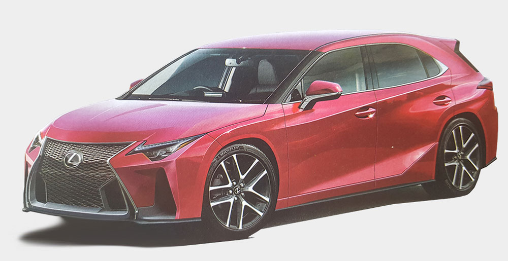 CT di nuova generazione anteriore Lexus