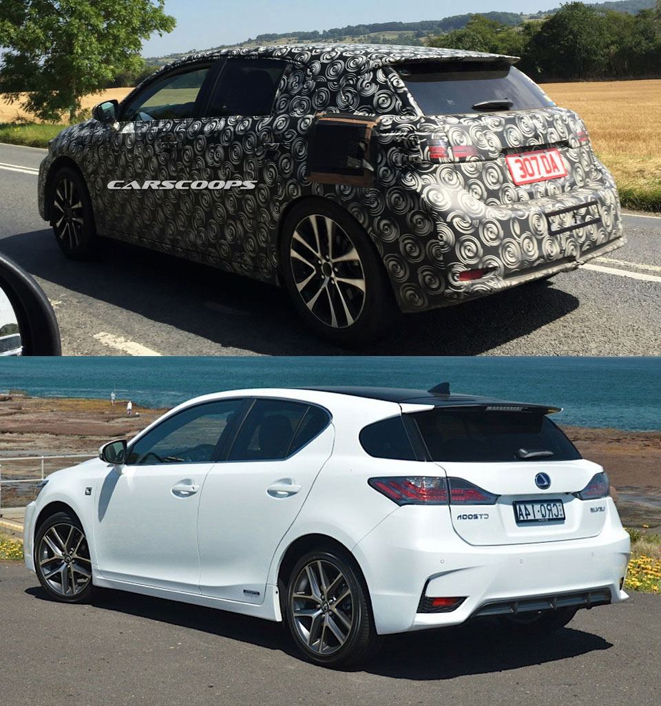 Lexus CT Prototype Comparison