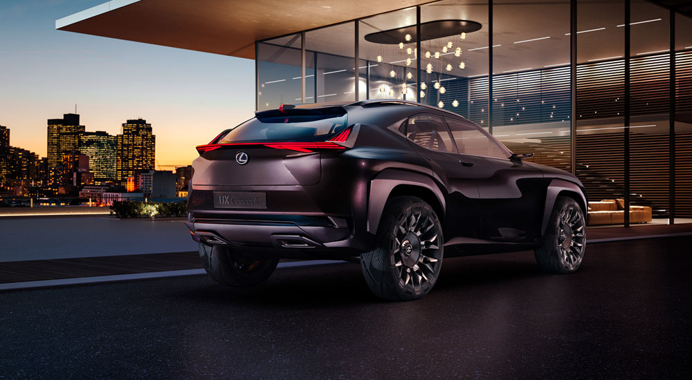 Lexus UX Rear View