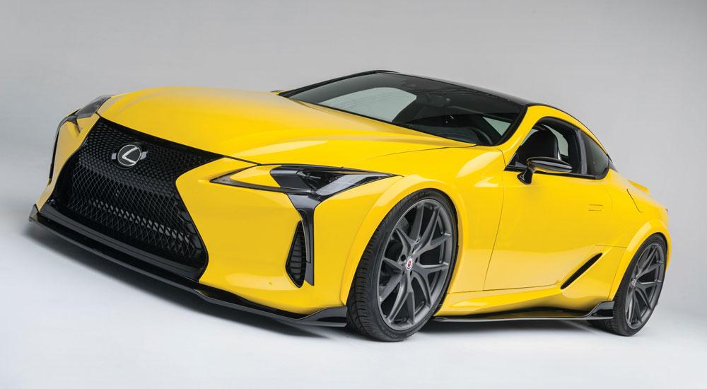 Lexus LC Yellow SEMA