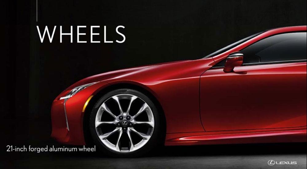 Lexus LC 21 inch wheel