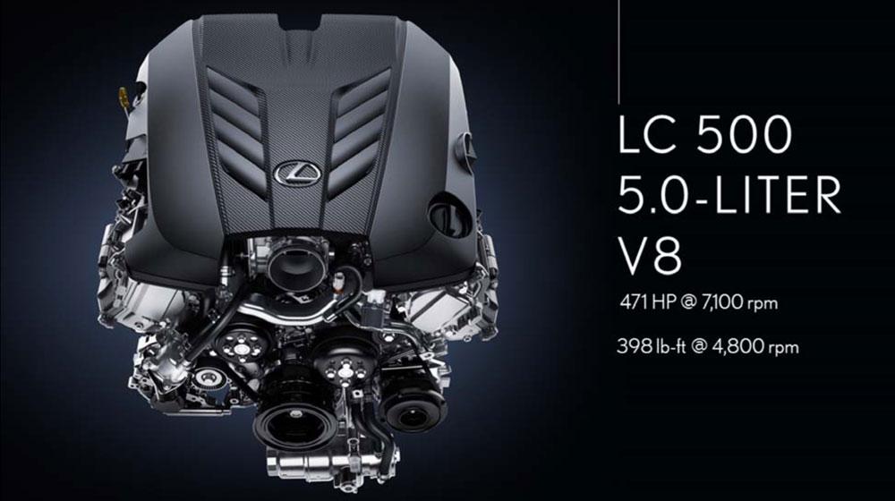 Lexus LC 500 Engine