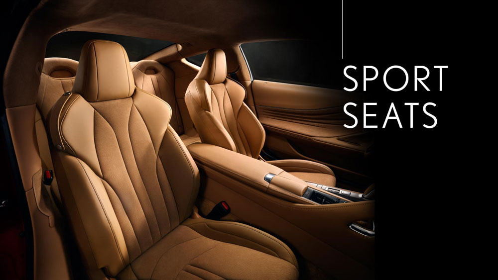 Lexus LC Sport Seating