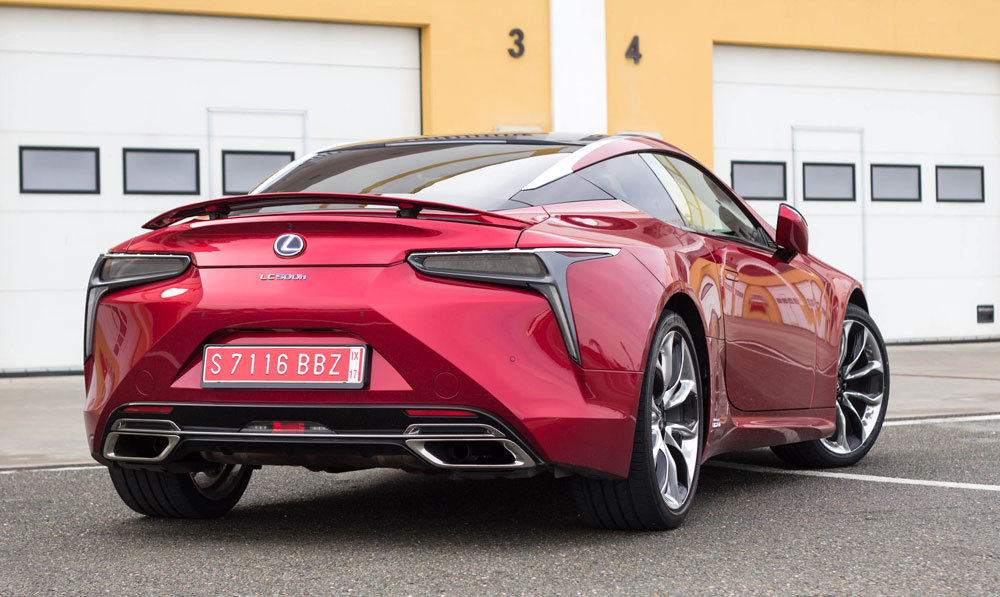 Lexus LC 500 Rear Red