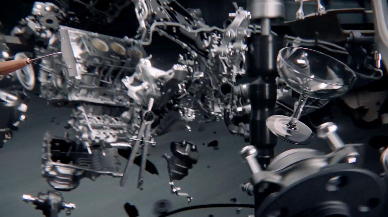 Lexus LS Champagne Glass