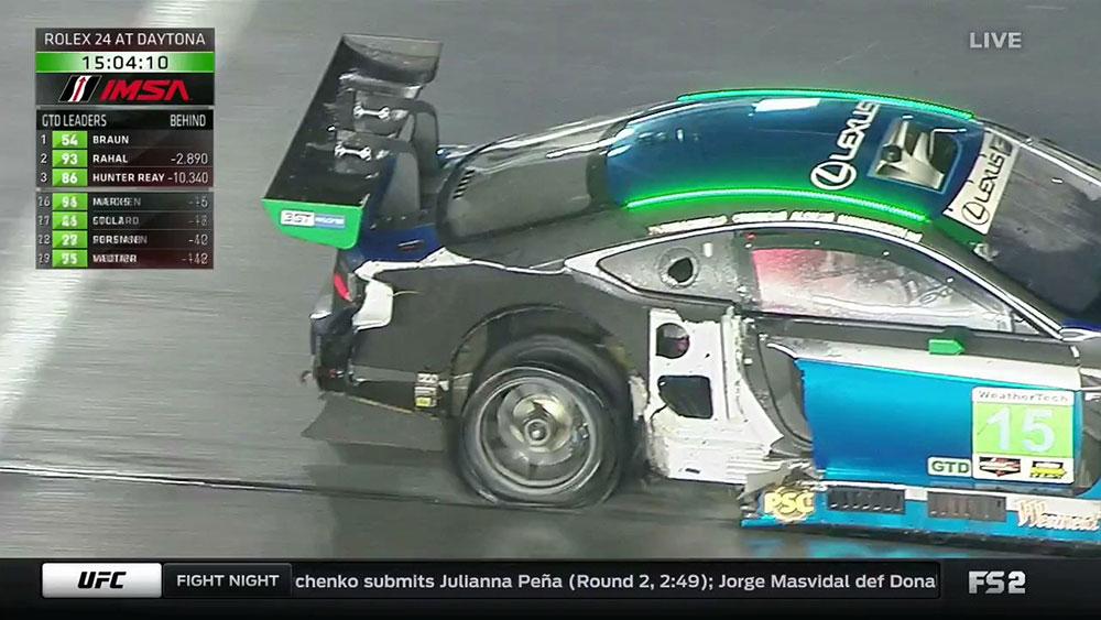 Lexus RC F Tire Missing