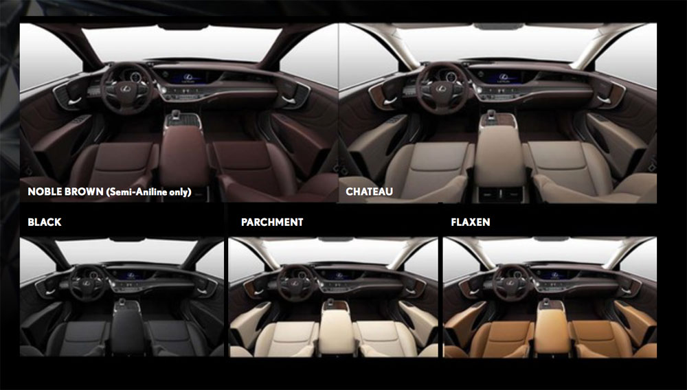 Lexus LS Standard Interior Colors