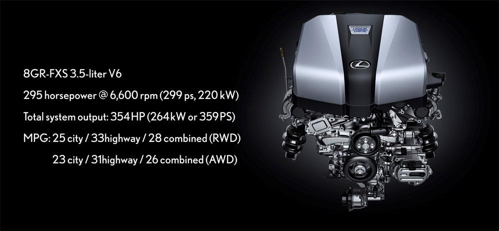 Lexus LS 500h Engine