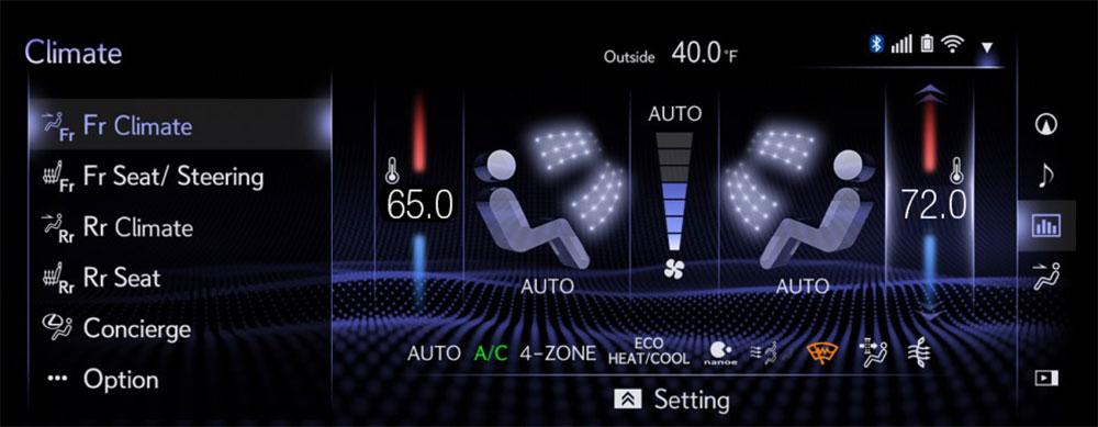 Lexus LS Climate Control