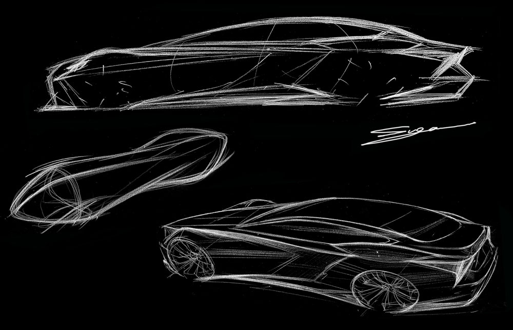 Lexus LS Design Sketches 2