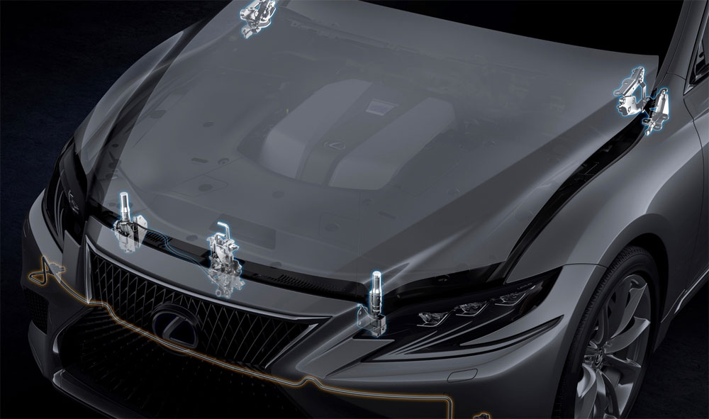 Lexus LS Pop-Up Hood