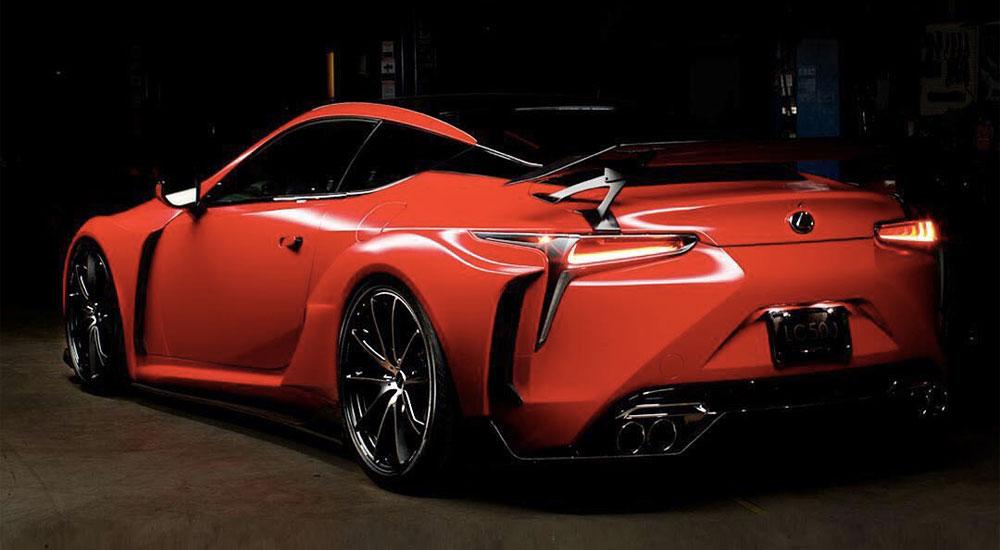 Lexus LC Satin Red