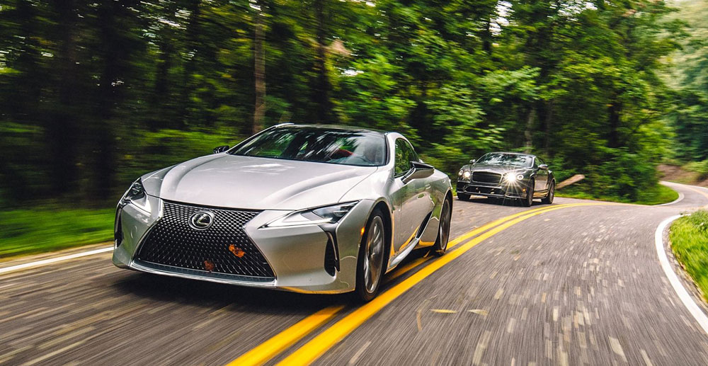 Lexus LC vs Bentley Continental