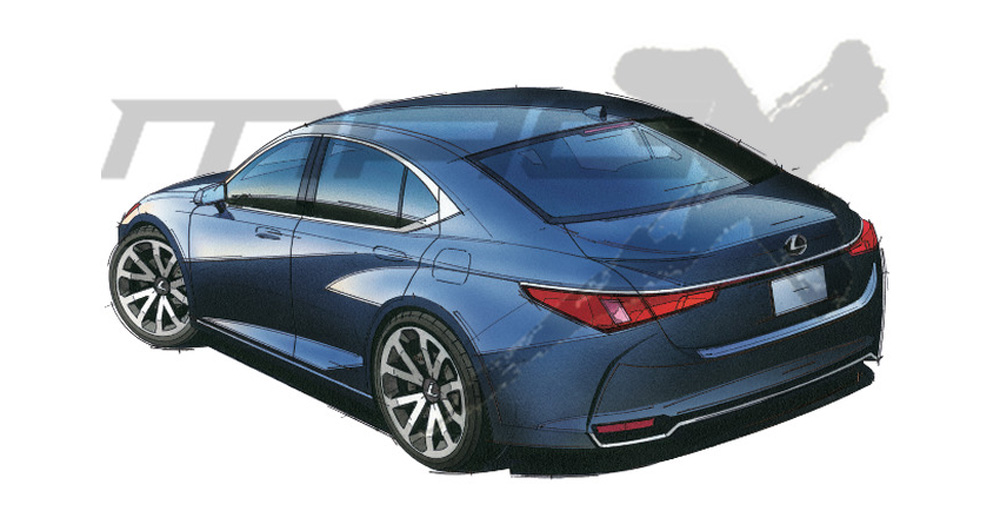 Lexus ES Next-Gen Rear