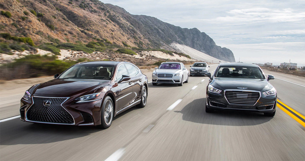 BMW 740E VS. LEXUS LS 500 VS. GENESIS G90 3.3T VS. LINCOLN CONTINENTAL 3.0