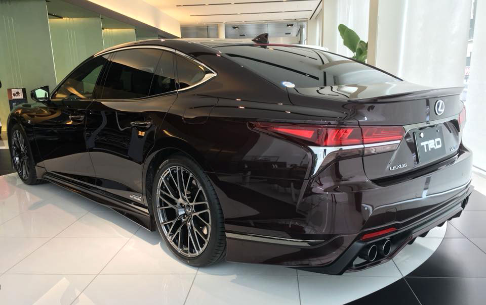 Black Lexus Ls 500 F Sport With Body Kit From Trd Japan