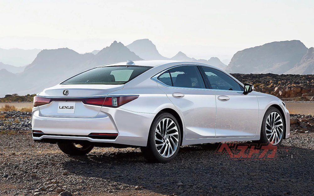 Lexus ES Rendering Rear