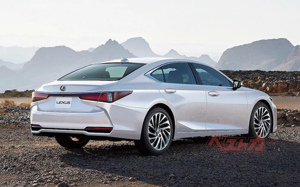 Lexus ES Rendering Rear