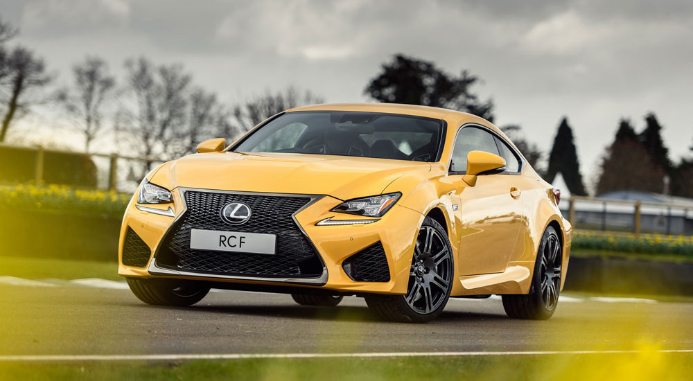 Lexus RC F Flare Yellow