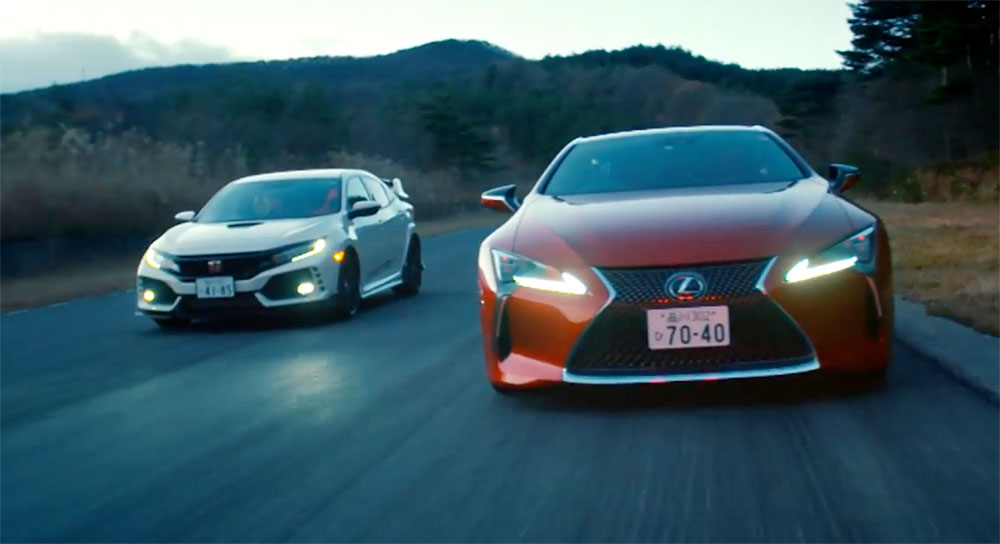 Lexus LC vs Civic Type R