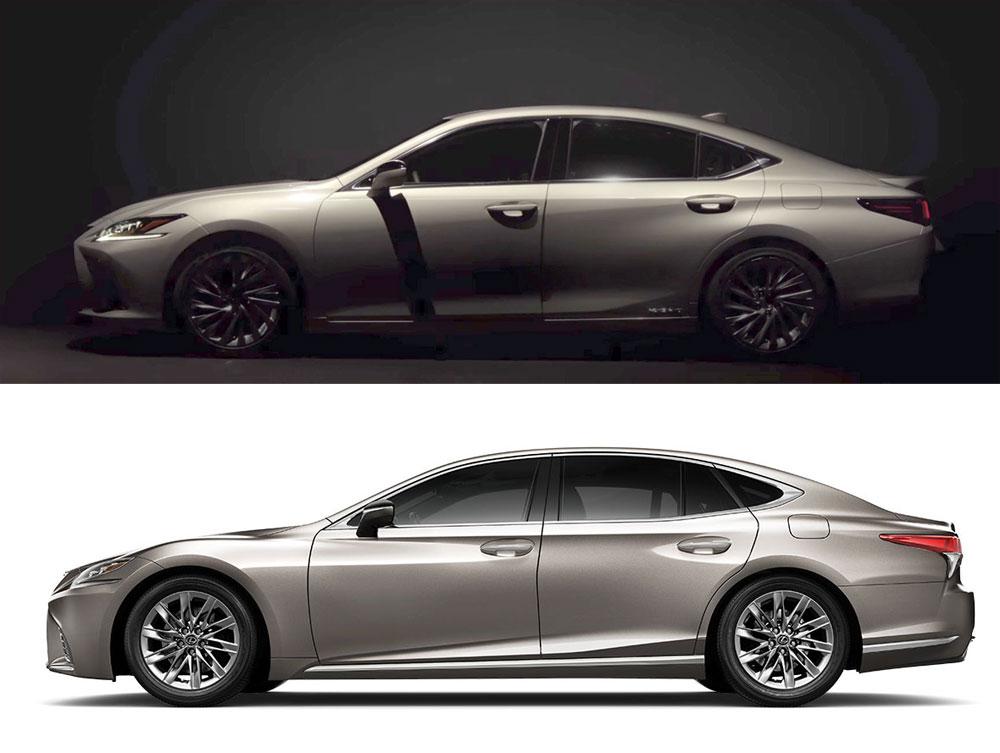 Lexus ES vs Lexus LS Side
