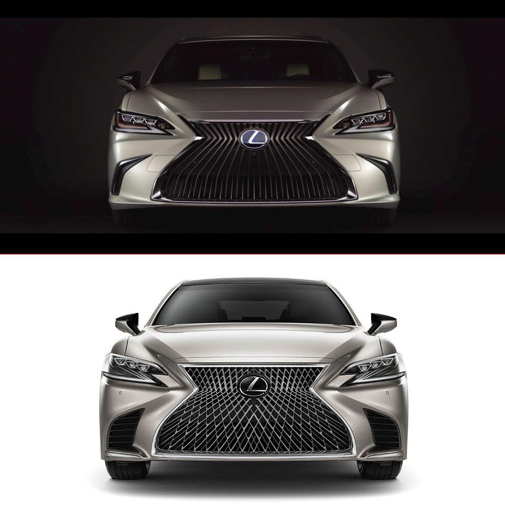 Lexus ES vs Lexus LS Front