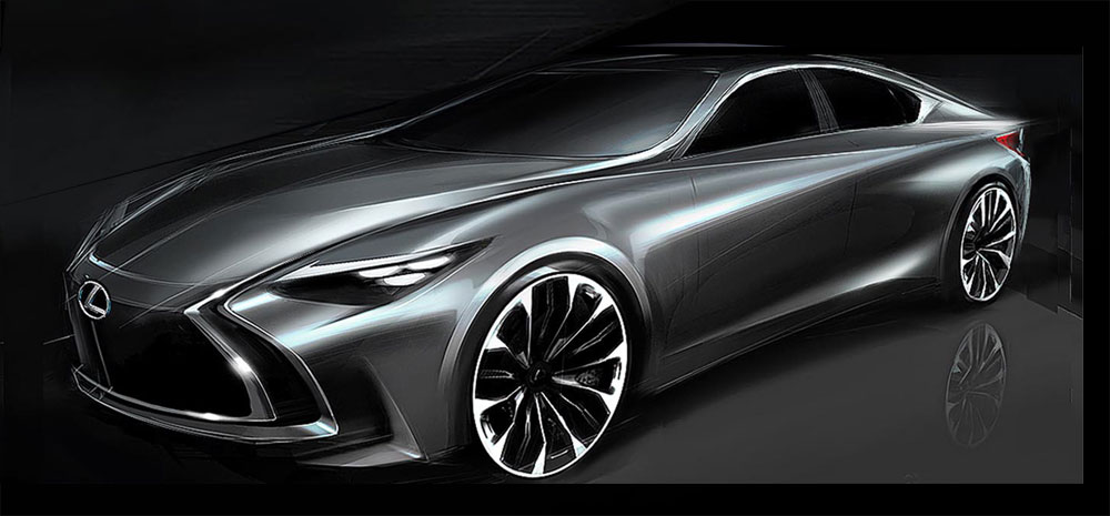 Lexus ES Early Design Sketch