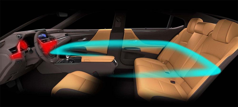 Lexus ES Interior Zones