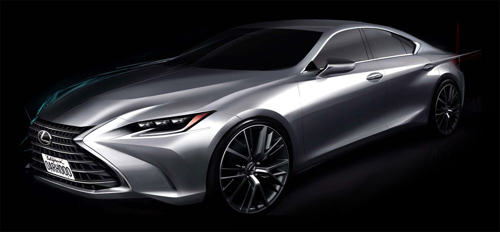 Lexus ES Design Sketch