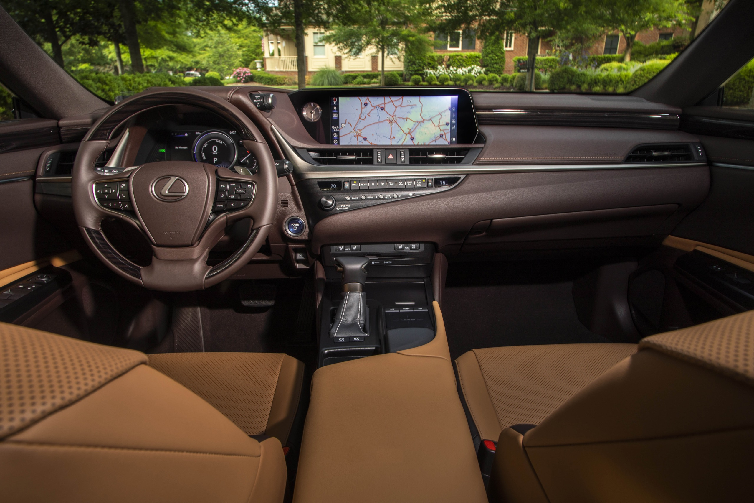 photo gallery inside the 2019 lexus es sedan  lexus