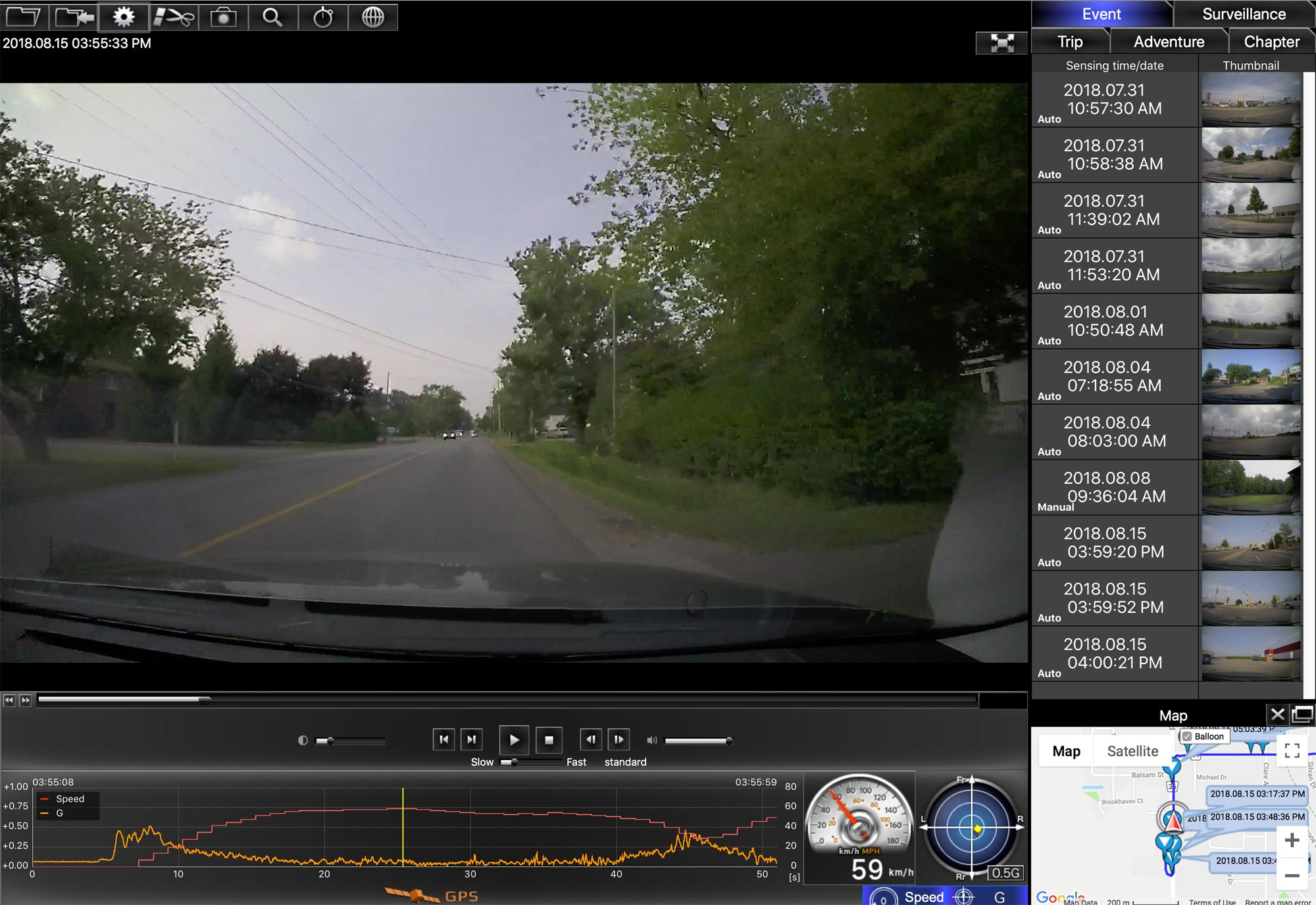 Lexus Dash Camera Dashboard