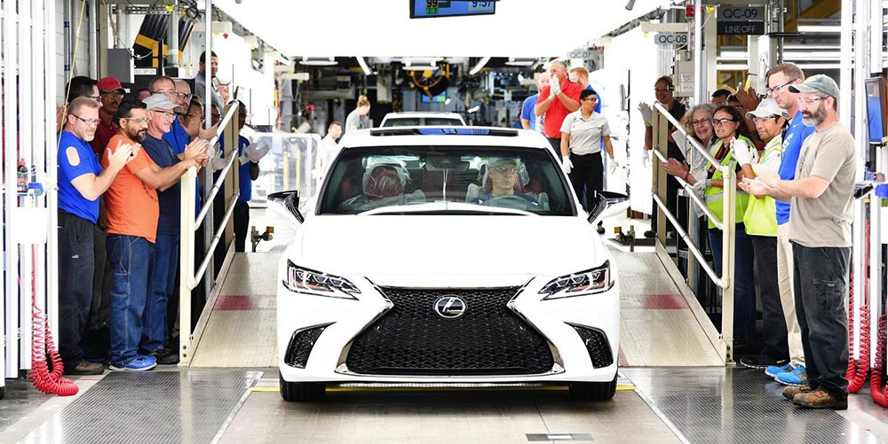 Lexus ES Manufacturing in Kentucky