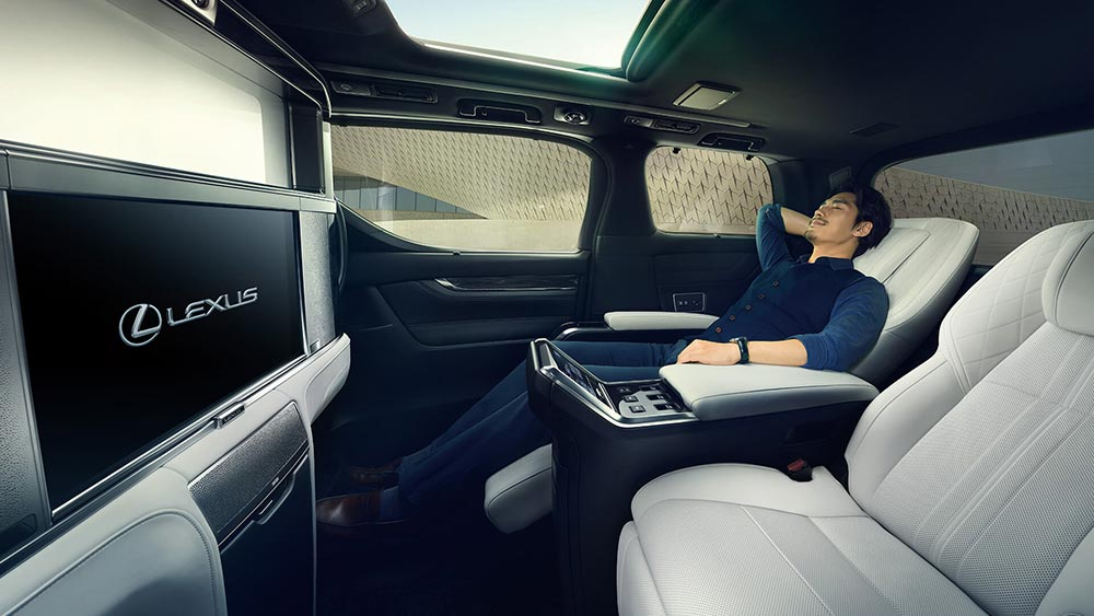 Lexus LM Reclining