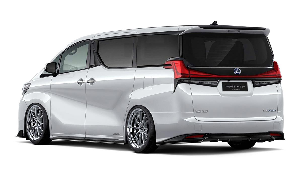 japanese tuners already modding the lexus lm minivan