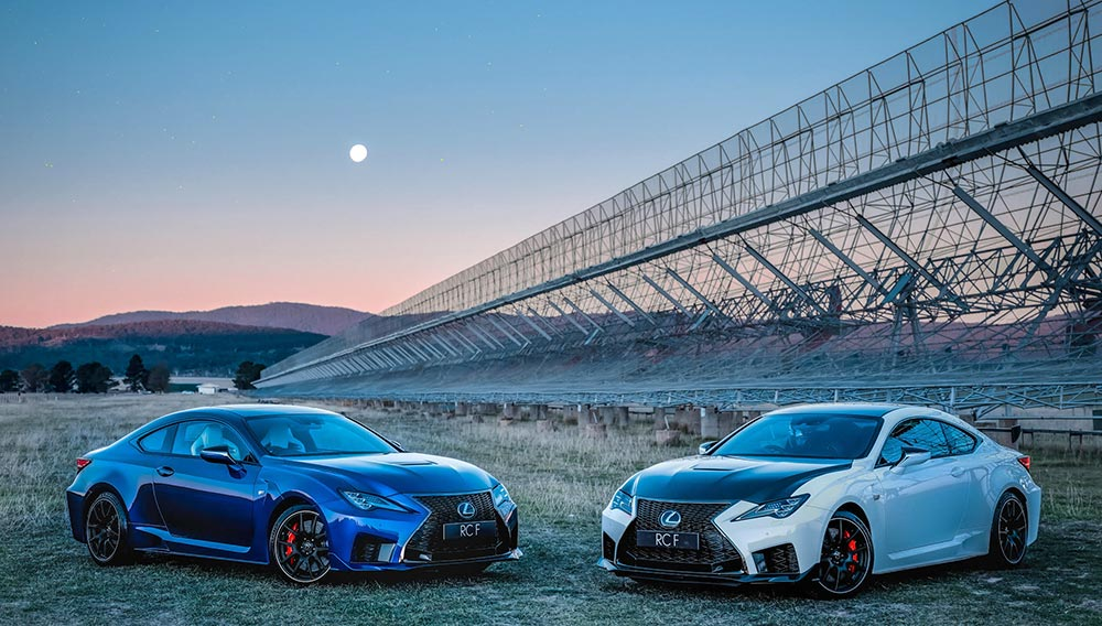 Lexus RC F Aliens Space