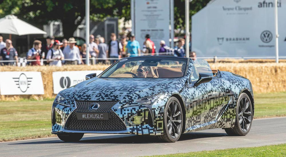 Lexus LC Convertible Front Goodwood