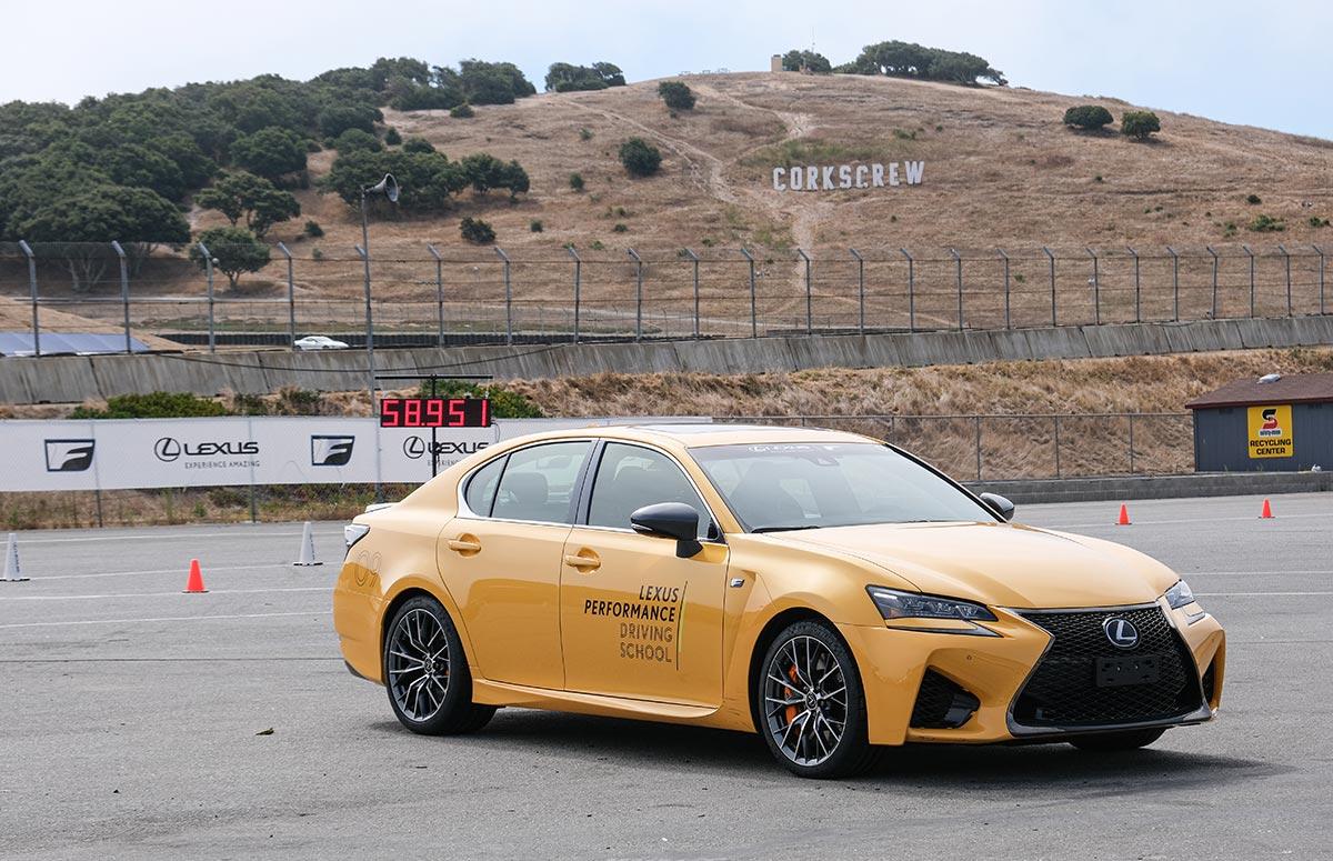 Lexus GS F Yellow