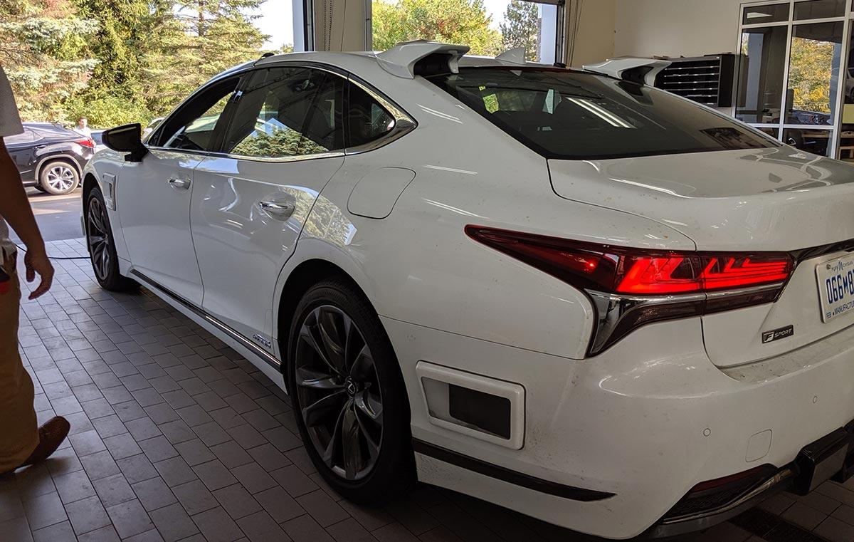 Spy Shots: Autonomous Lexus LS 5h Spotted in New York  Lexus