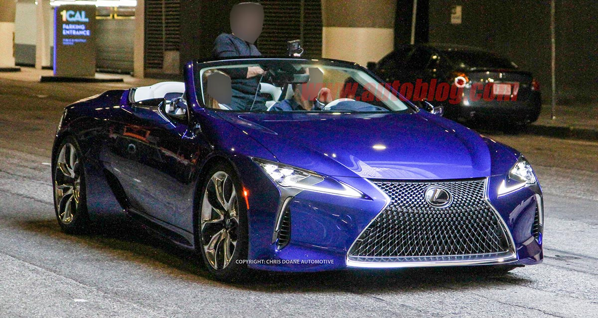 Lexus Los Angeles >> Spy Shots Lexus Lc Convertible Spotted In Los Angeles